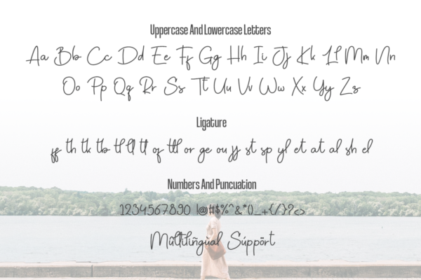 Forgetting You in Calligraphy Fonts
