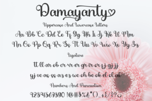 Damayanty in Calligraphy Fonts