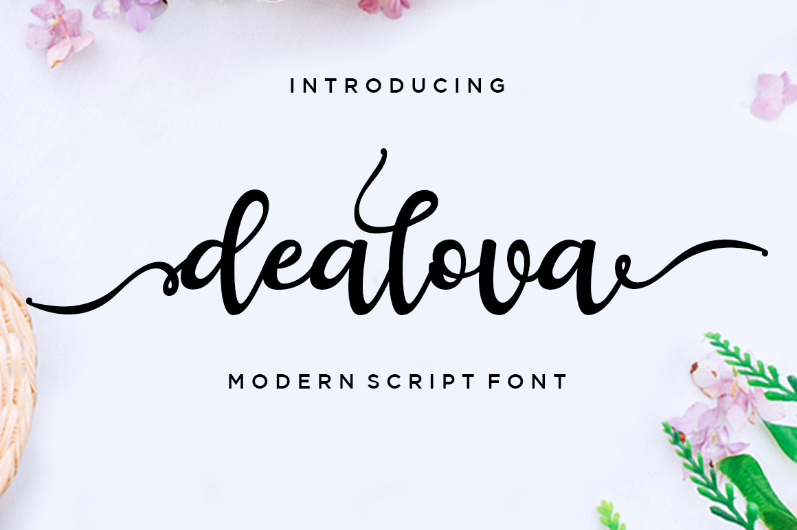 Dealova Script in Script Fonts