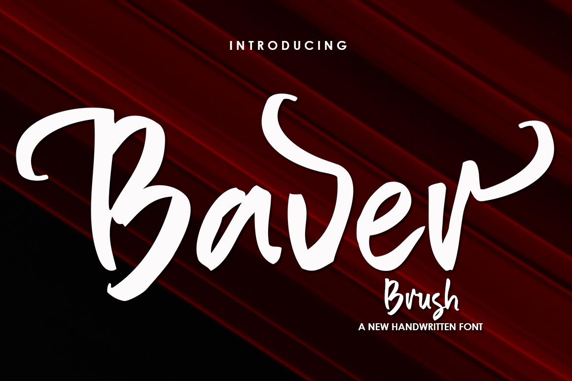 Baver Brush in Brush Fonts