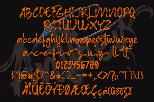 Anther Brush in Brush Fonts