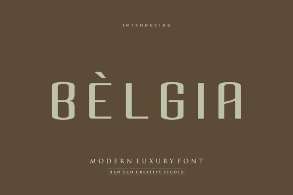 Belgia in Sans Serif Fonts