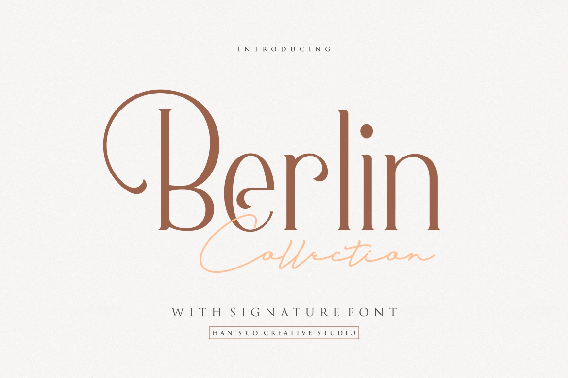 Berlin Collection in Display Fonts