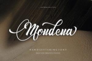 Mondena in Calligraphy Fonts