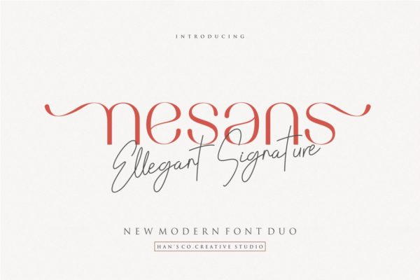 Nesans in Display Fonts