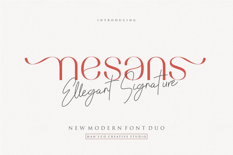 Nesans in Sans Serif Fonts