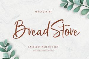 Bread Store in Script Fonts
