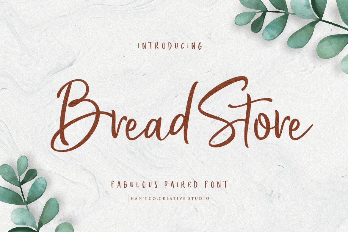 Bread Store in Script Fonts