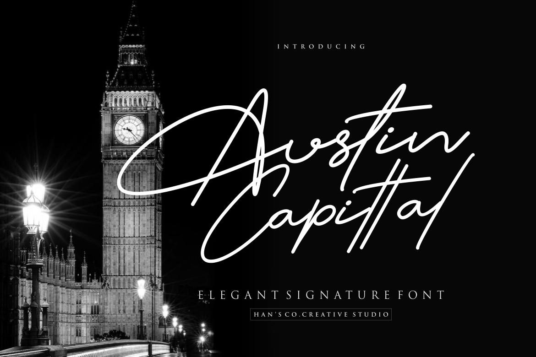 Austin Capittal in Handwriting Fonts