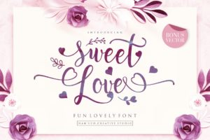 Sweet Love in Script Fonts