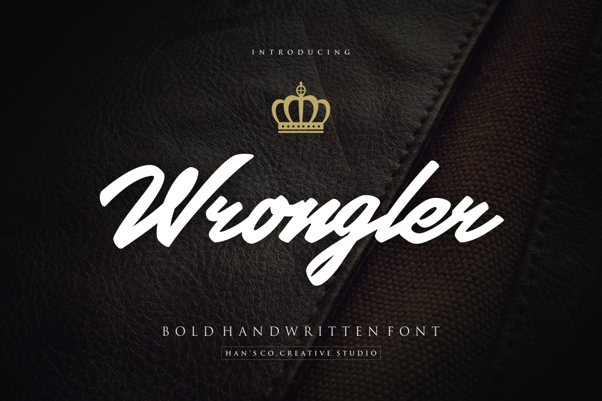 Wrongler in Calligraphy Fonts