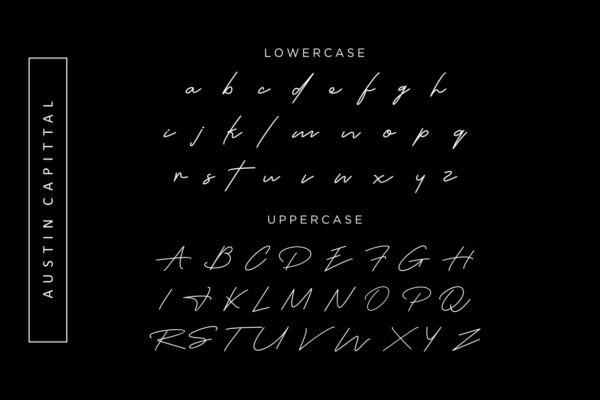 Austin Capittal in Handwriting Fonts