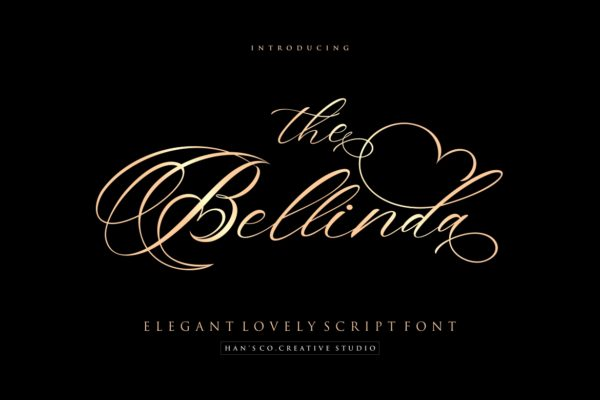 The Bellinda in Calligraphy Fonts