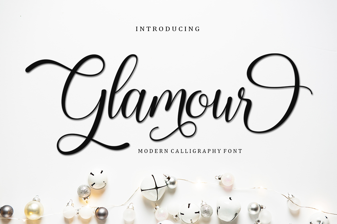 Glamour in Script Fonts