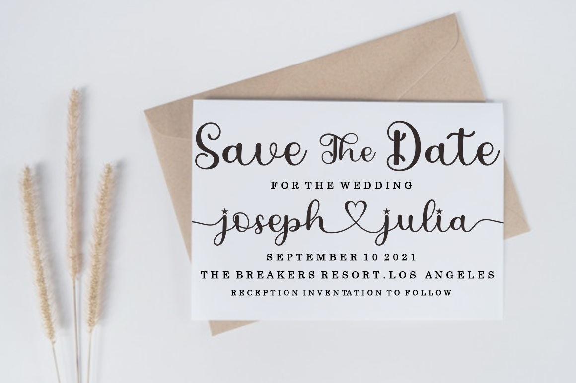 Love Julia in Calligraphy Fonts