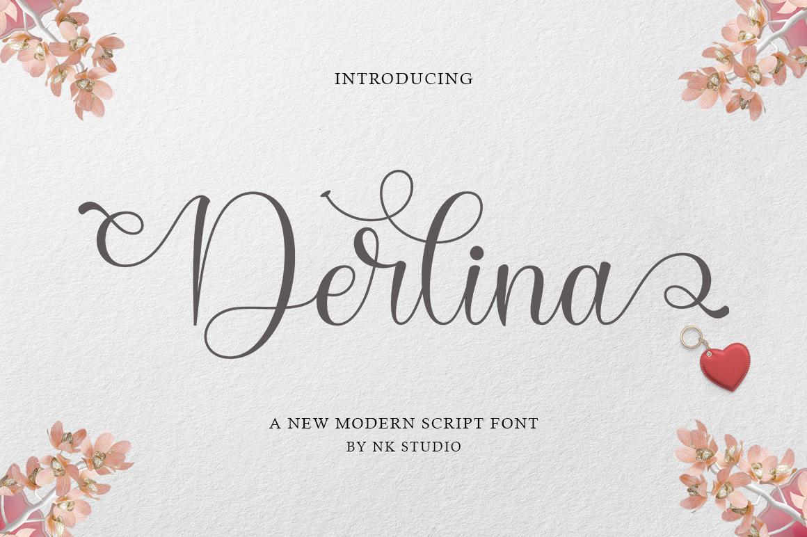 Derlina in Script Fonts