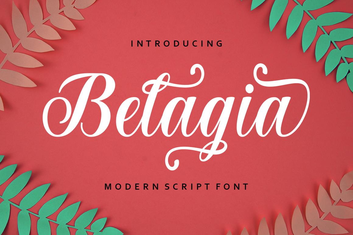 Belagia in Script Fonts