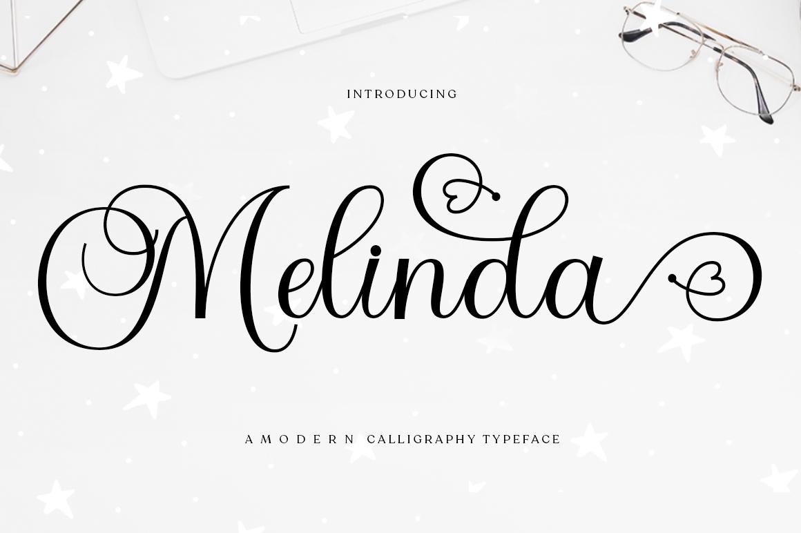 Melinda in Calligraphy Fonts