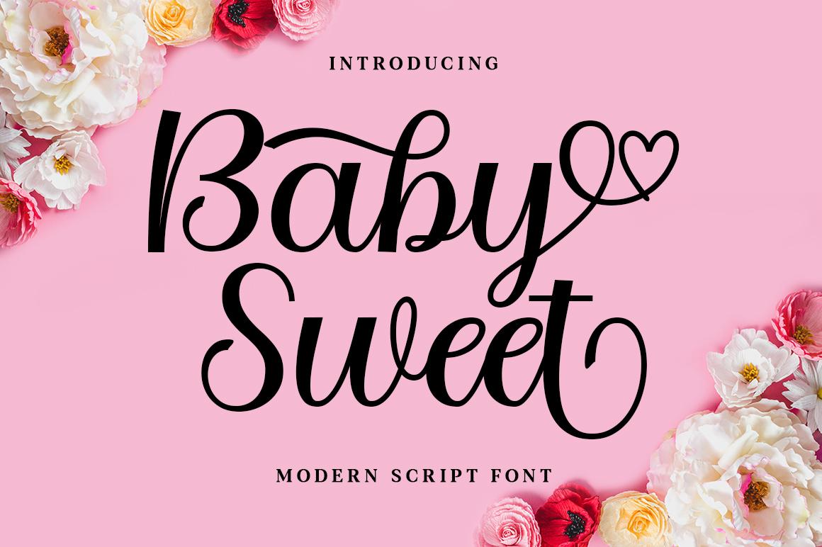 Baby Sweet in Script Fonts