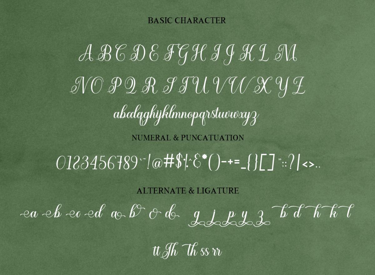 Cuttauri in Script Fonts