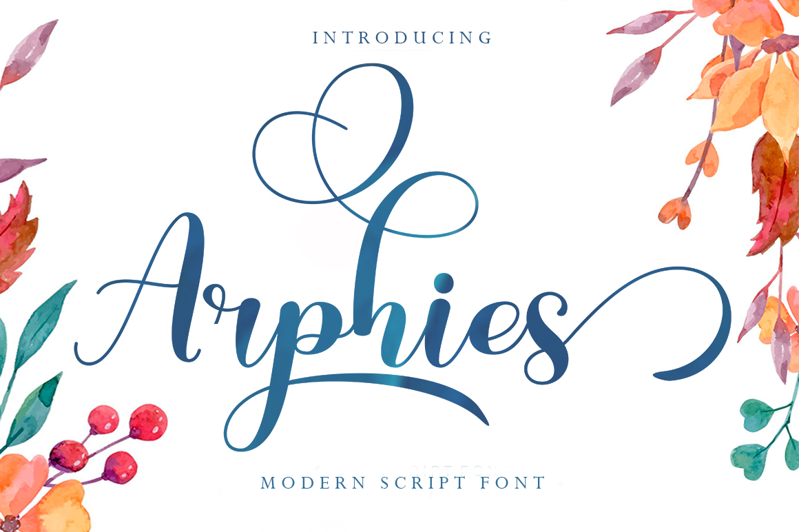 Arphies in Script Fonts