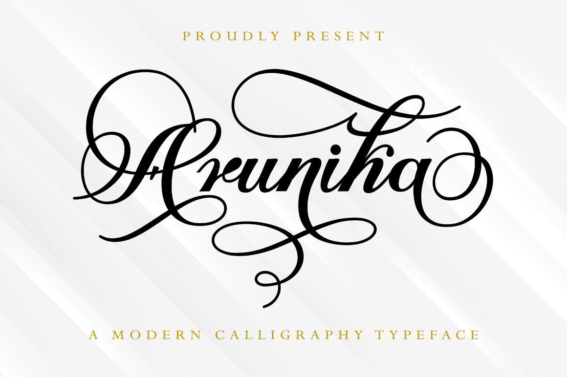 Arunika in Calligraphy Fonts
