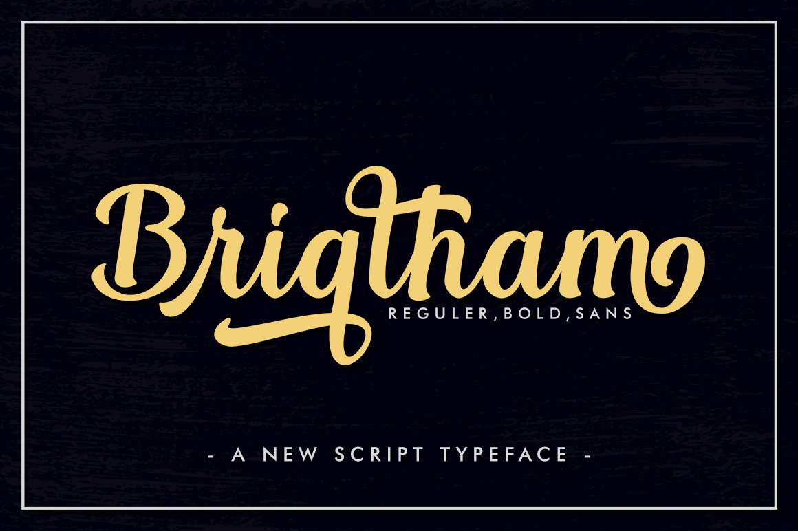 Brigtham in Handwriting Fonts