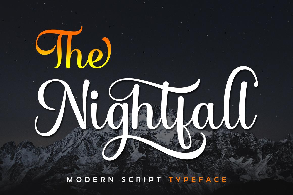 The Nightfall in Script Fonts