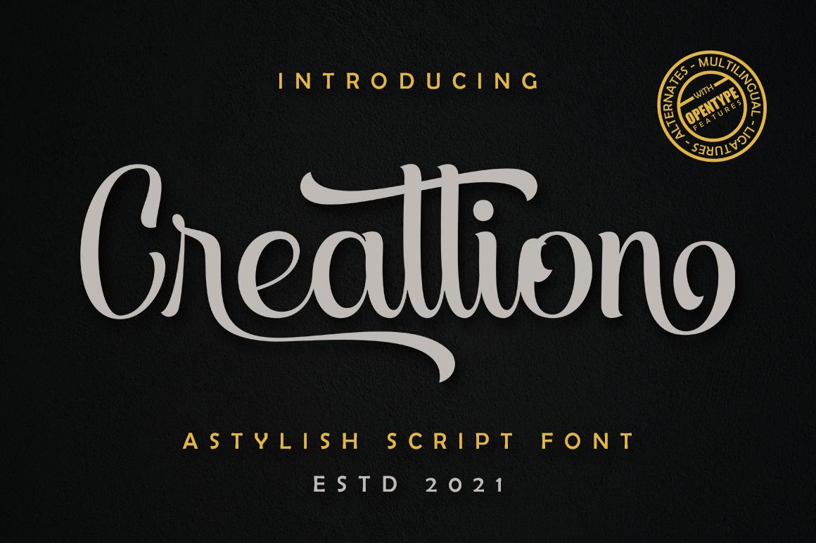 Creattion in Script Fonts