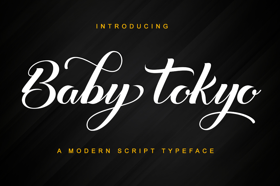 Baby Tokyo in Script Fonts