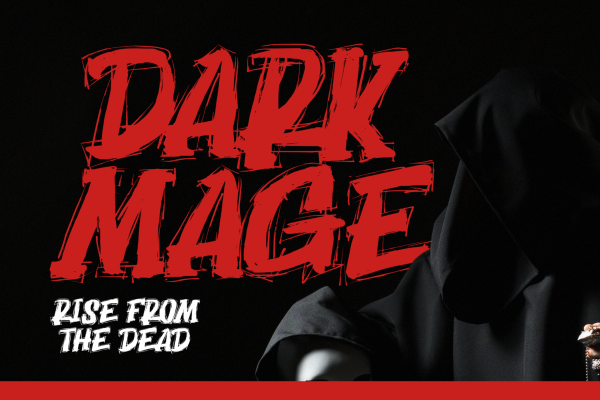 Dark Mage - Scary Typeface in Display Fonts