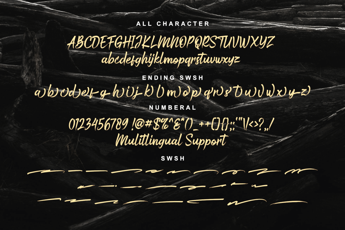 Bustered - Handbrush Typeface in Script Fonts