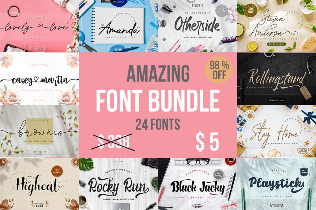 Amazing Font Bundle in Bundles Fonts