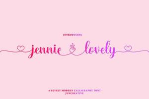 Jennie Lovely in Script Fonts