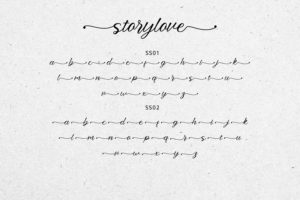 Storylove in Script Fonts