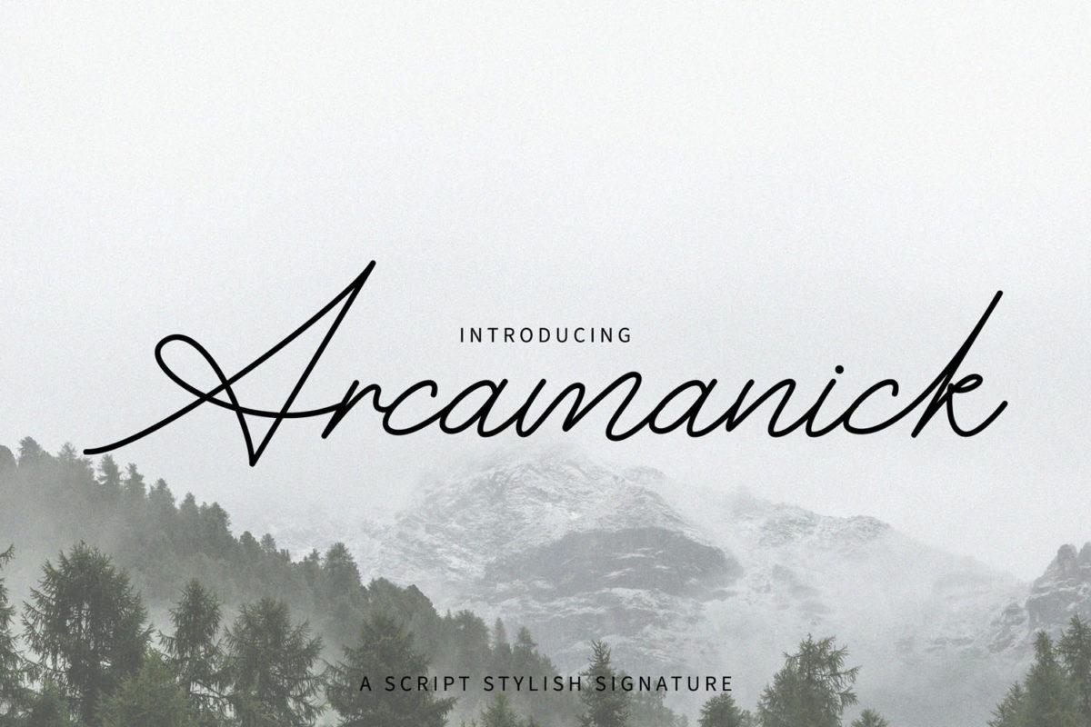 Arcamanick in Handwriting Fonts