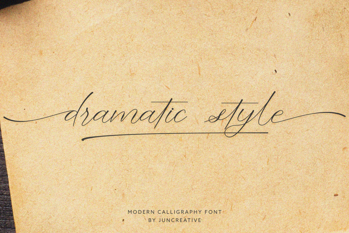 Dramatic Style in Handwriting Fonts