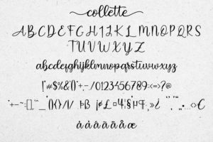 Collette in Handwriting Fonts