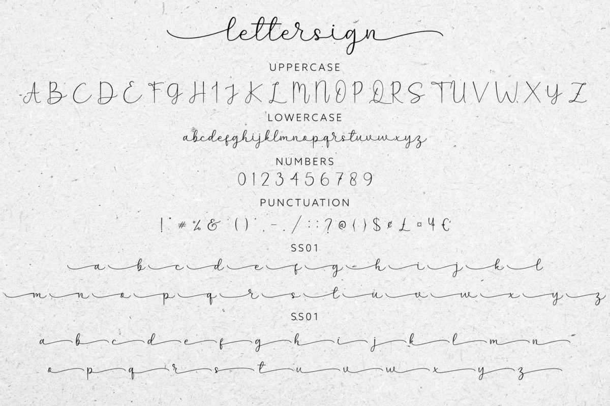 Lettersign in Handwriting Fonts