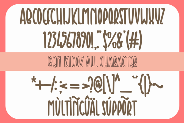 Ben Kidoz in Display Fonts
