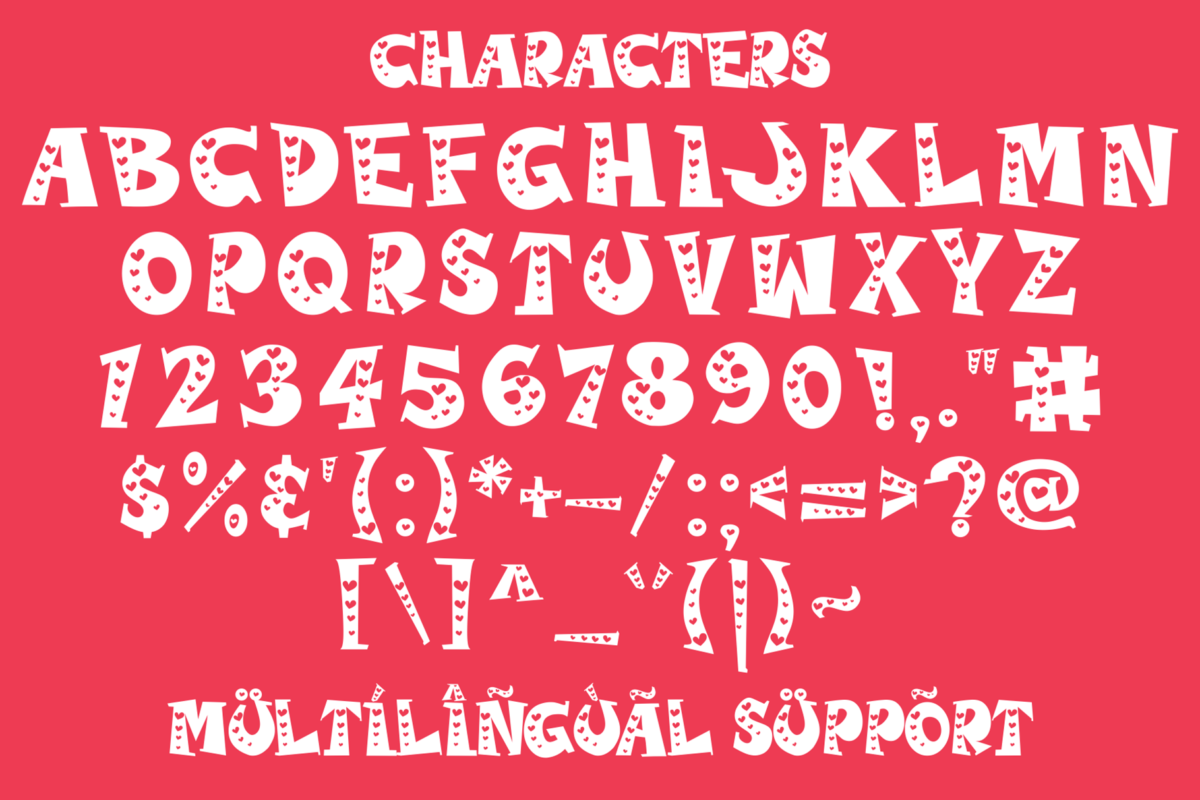 Kiddie Love in Decorative Fonts