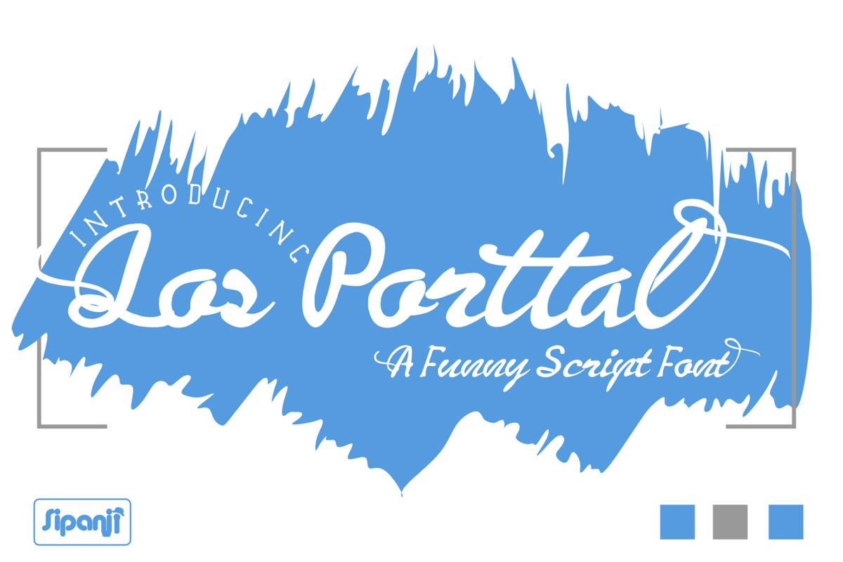 Los Porttal in Script Fonts