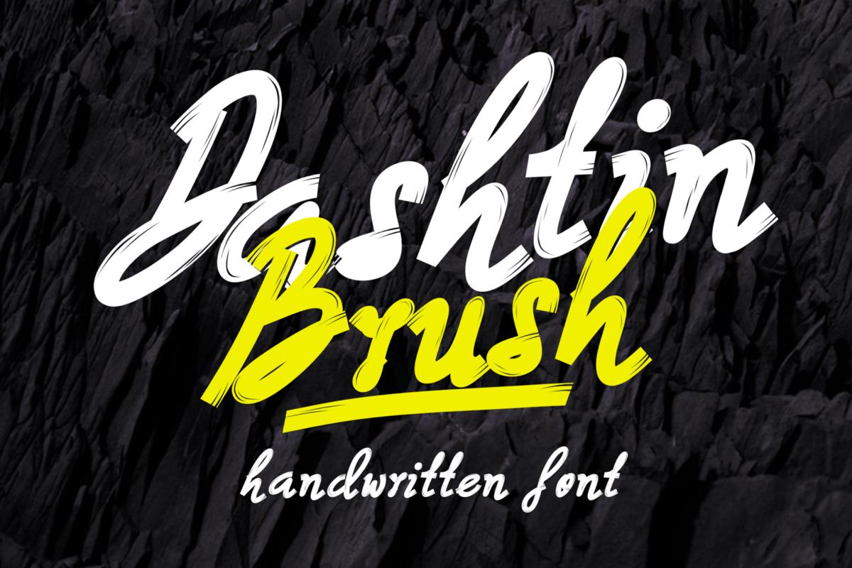 Dashtin Brush in Display Fonts