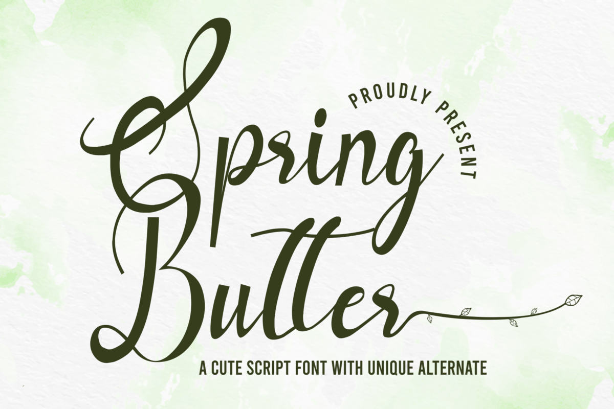Spring Butter in Calligraphy Fonts
