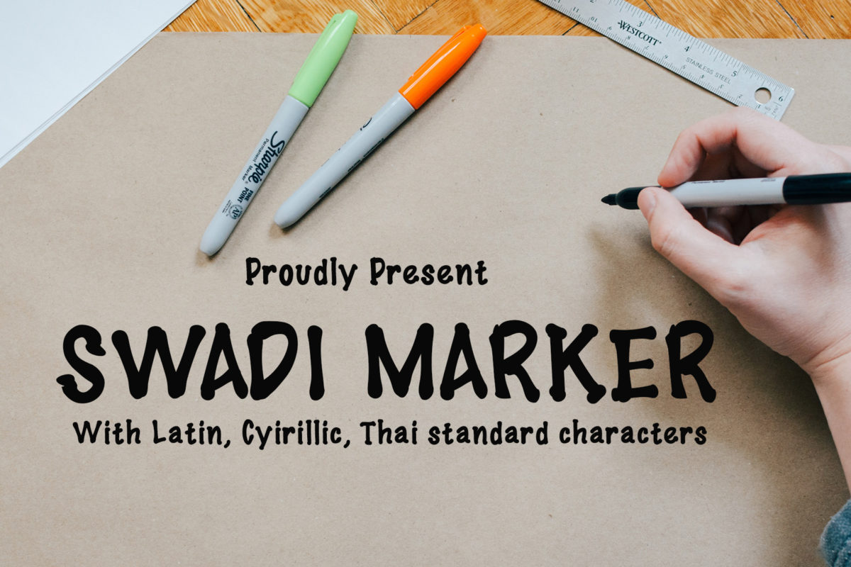 Swadi Marker in Handwriting Fonts