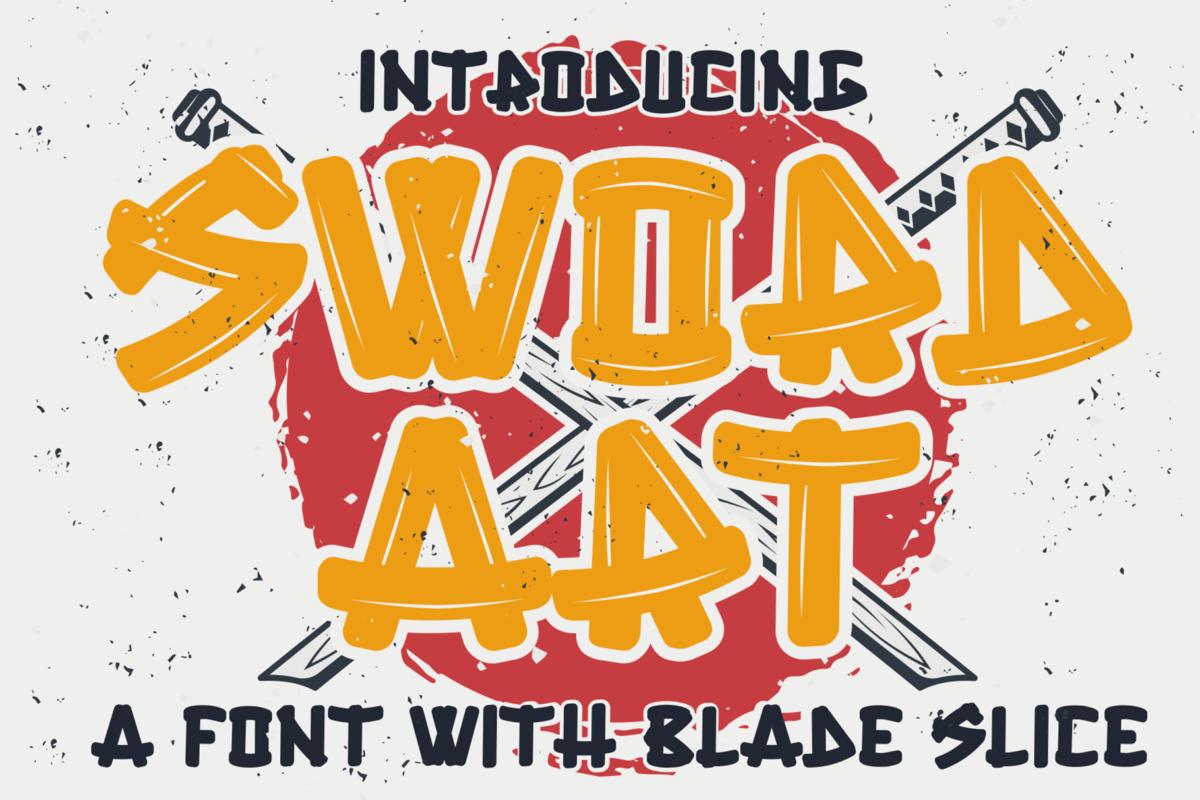 Sword Art in Display Fonts