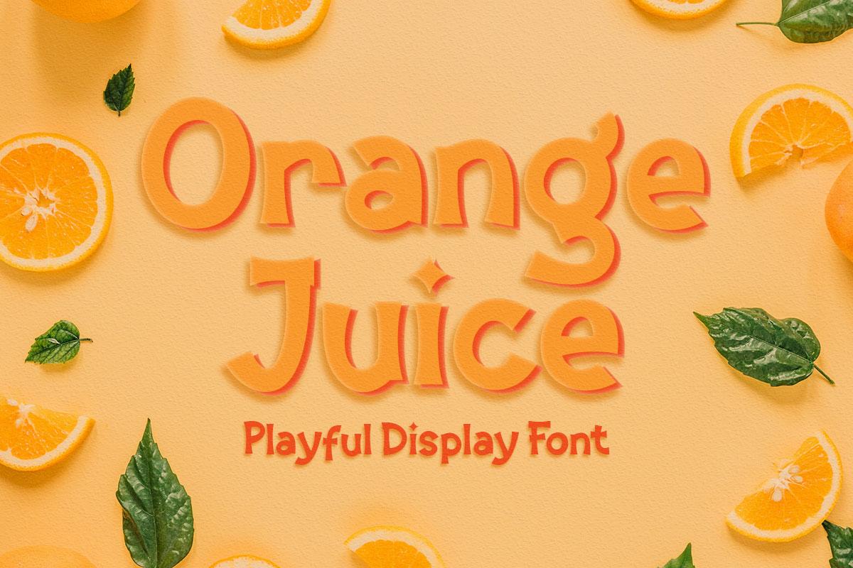 Orange Juice - Display Font in Decorative Fonts