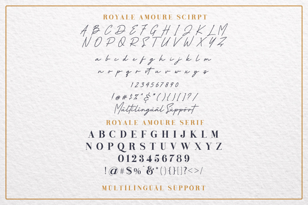 Royale Amoure Font Duo in Handwriting Fonts