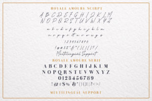Royale Amoure Font Duo in Serif Fonts