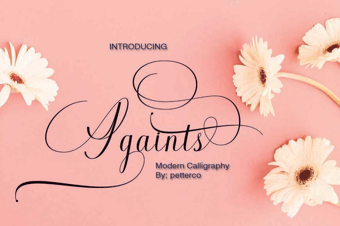Againts Calligraphy Font in Calligraphy Fonts